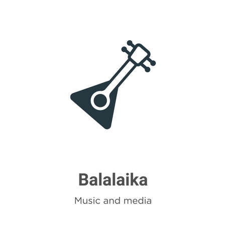Balalaika vector icon on white background. Flat vector balalaika icon symbol sign from modern music collection for mobile concept and web apps design. Иллюстрация