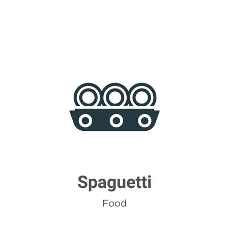 Spaguetti vector icon on white background. Flat vector spaguetti icon symbol sign from modern food collection for mobile concept and web apps design.