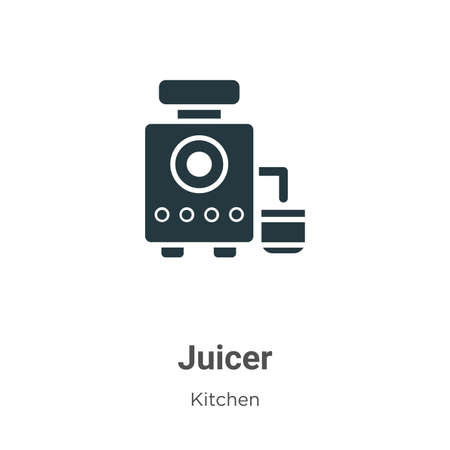 Juicer vector icon on white background. Flat vector juicer icon symbol sign from modern kitchen collection for mobile concept and web apps design.