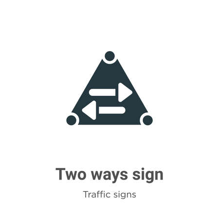 Two ways sign vector icon on white background. Flat vector two ways sign icon symbol sign from modern traffic signs collection for mobile concept and web apps design. Ilustracja