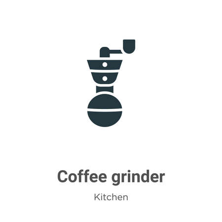 Coffee grinder vector icon on white background. Flat vector coffee grinder icon symbol sign from modern kitchen collection for mobile concept and web apps design.