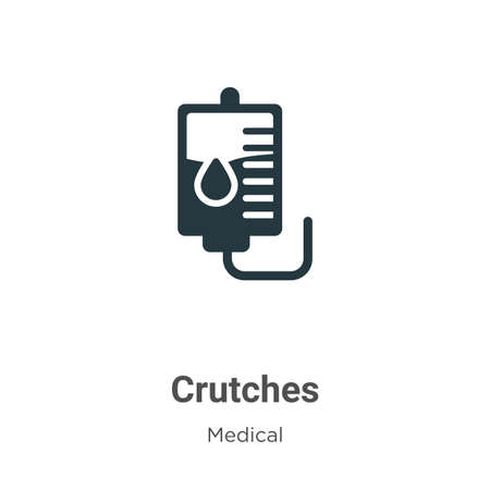 Crutches vector icon on white background. Flat vector crutches icon symbol sign from modern medical collection for mobile concept and web apps design.