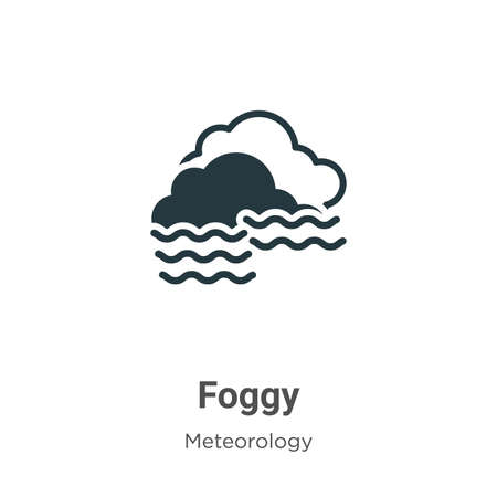 Foggy vector icon on white background. Flat vector foggy icon symbol sign from modern meteorology collection for mobile concept and web apps design.