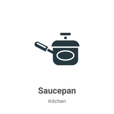 Saucepan vector icon on white background. Flat vector saucepan icon symbol sign from modern kitchen collection for mobile concept and web apps design.