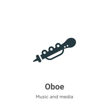 Oboe vector icon on white background. Flat vector oboe icon symbol sign from modern music collection for mobile concept and web apps design.