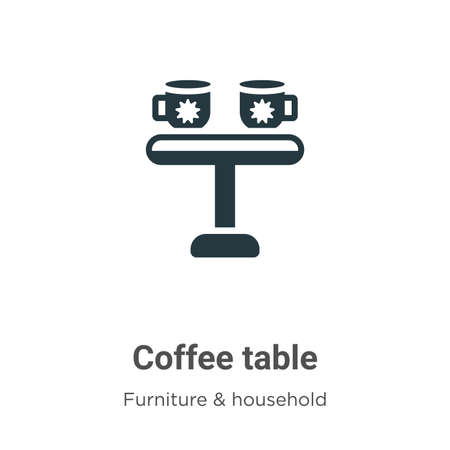 Coffee table vector icon on white background. Flat vector coffee table icon symbol sign from modern furniture and household collection for mobile concept and web apps design.