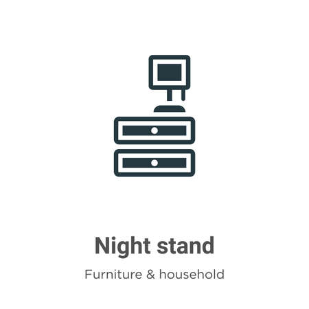 Night stand vector icon on white background. Flat vector night stand icon symbol sign from modern furniture & household collection for mobile concept and web apps design.