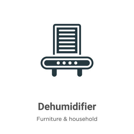 Dehumidifier vector icon on white background. Flat vector dehumidifier icon symbol sign from modern furniture and household collection for mobile concept and web apps design. Иллюстрация