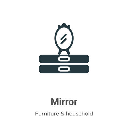 Mirror vector icon on white background. Flat vector mirror icon symbol sign from modern furniture collection for mobile concept and web apps design.