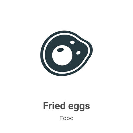 Fried eggs vector icon on white background. Flat vector fried eggs icon symbol sign from modern food collection for mobile concept and web apps design.