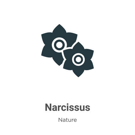 Narcissus vector icon on white background. Flat vector narcissus icon symbol sign from modern nature collection for mobile concept and web apps design. Illustration