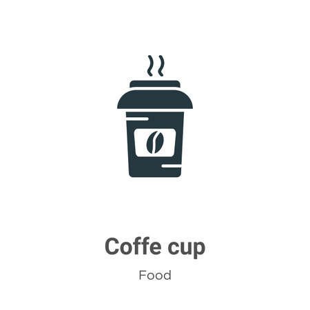 Coffe cup vector icon on white background. Flat vector coffe cup icon symbol sign from modern food collection for mobile concept and web apps design.