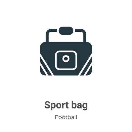 Sport bag vector icon on white background. Flat vector sport bag icon symbol sign from modern football collection for mobile concept and web apps design.