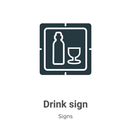 Drink sign vector icon on white background. Flat vector drink sign icon symbol sign from modern signs collection for mobile concept and web apps design.