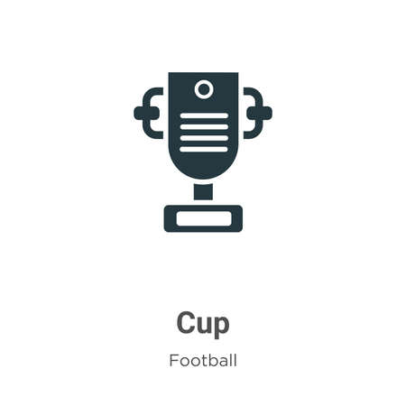Cup vector icon on white background. Flat vector cup icon symbol sign from modern football collection for mobile concept and web apps design. Vettoriali