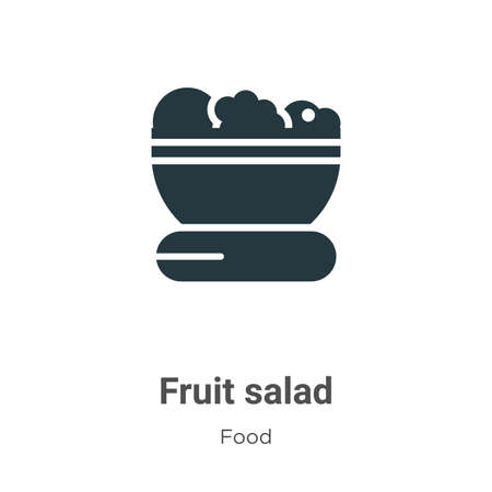 Fruit salad vector icon on white background. Flat vector fruit salad icon symbol sign from modern food collection for mobile concept and web apps design. Ilustracja