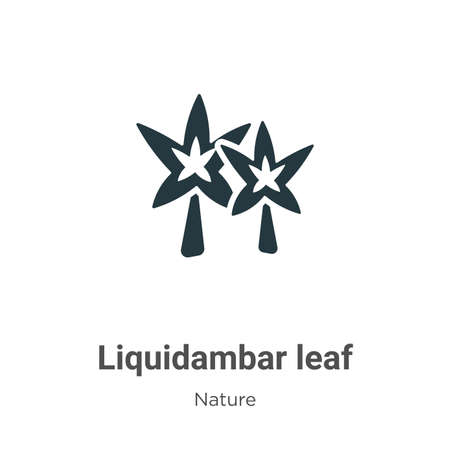 Liquidambar leaf vector icon on white background. Flat vector liquidambar leaf icon symbol sign from modern nature collection for mobile concept and web apps design.