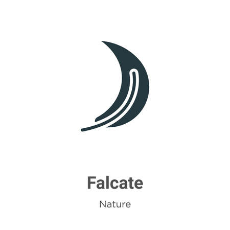 Falcate vector icon on white background. Flat vector falcate icon symbol sign from modern nature collection for mobile concept and web apps design.