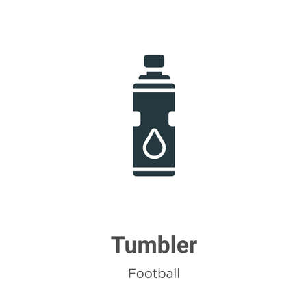 Tumbler vector icon on white background. Flat vector tumbler icon symbol sign from modern football collection for mobile concept and web apps design. Vettoriali