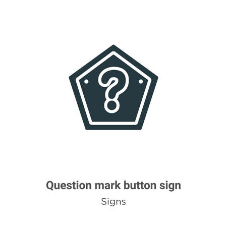 Question mark button sign vector icon on white background. Flat vector question mark button sign icon symbol sign from modern signs collection for mobile concept and web apps design.