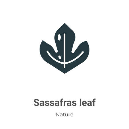 Sassafras leaf vector icon on white background. Flat vector sassafras leaf icon symbol sign from modern nature collection for mobile concept and web apps design.