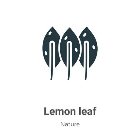 Lemon leaf vector icon on white background. Flat vector lemon leaf icon symbol sign from modern nature collection for mobile concept and web apps design. Ilustracja