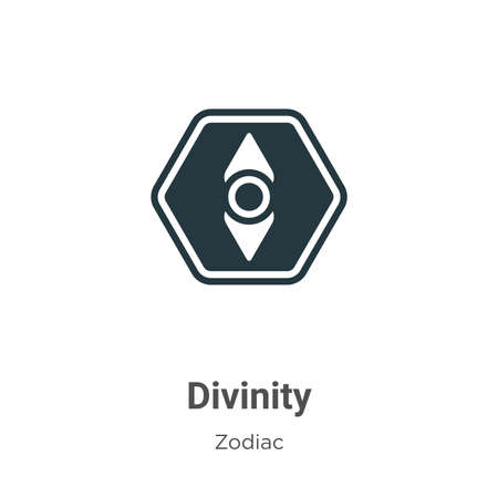 Divinity vector icon on white background. Flat vector divinity icon symbol sign from modern zodiac collection for mobile concept and web apps design.