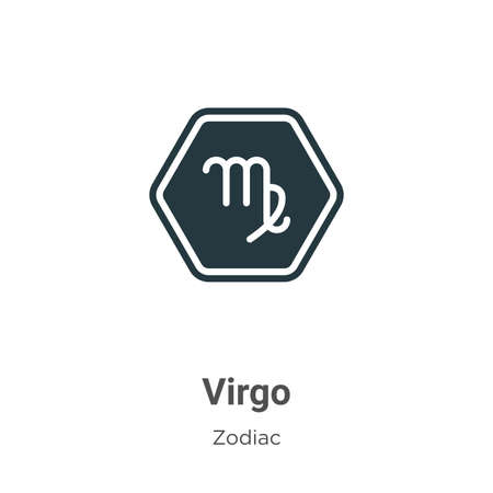 Virgo vector icon on white background. Flat vector virgo icon symbol sign from modern zodiac collection for mobile concept and web apps design.