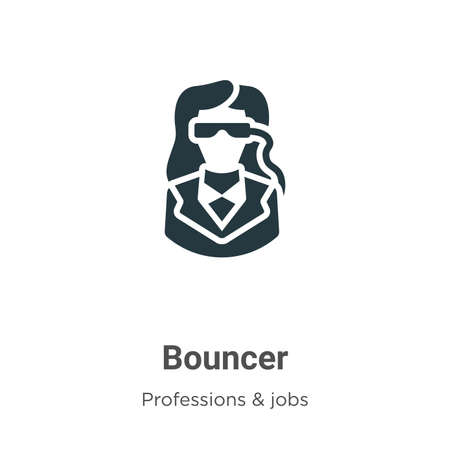 Bouncer vector icon on white background. Flat vector bouncer icon symbol sign from modern professions & jobs collection for mobile concept and web apps design.