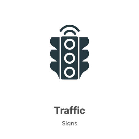 Traffic vector icon on white background. Flat vector traffic icon symbol sign from modern signs collection for mobile concept and web apps design.
