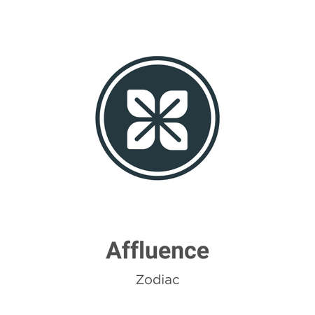 Affluence vector icon on white background. Flat vector affluence icon symbol sign from modern zodiac collection for mobile concept and web apps design.