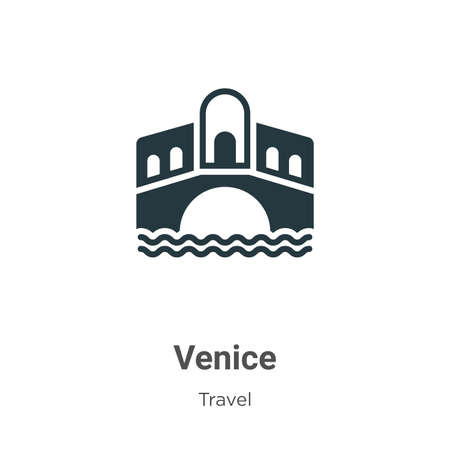 Venice vector icon on white background. Flat vector venice icon symbol sign from modern travel collection for mobile concept and web apps design.