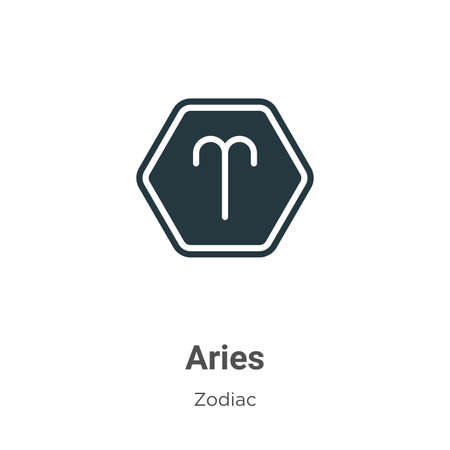 Aries vector icon on white background. Flat vector aries icon symbol sign from modern zodiac collection for mobile concept and web apps design.