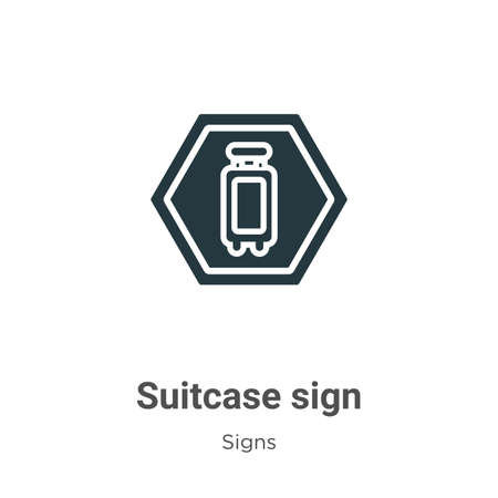 Suitcase sign vector icon on white background. Flat vector suitcase sign icon symbol sign from modern signs collection for mobile concept and web apps design.