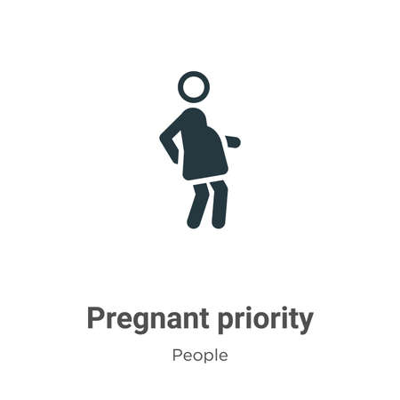 Pregnant priority vector icon on white background. Flat vector pregnant priority icon symbol sign from modern people collection for mobile concept and web apps design.