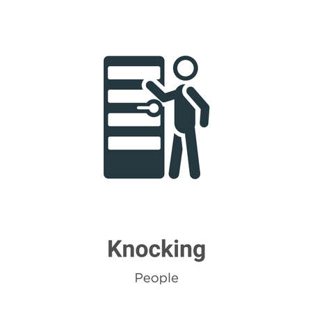 Knocking vector icon on white background. Flat vector knocking icon symbol sign from modern people collection for mobile concept and web apps design.