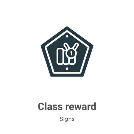 Class reward vector icon on white background. Flat vector class reward icon symbol sign from modern signs collection for mobile concept and web apps design.
