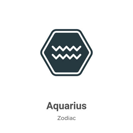 Aquarius vector icon on white background. Flat vector aquarius icon symbol sign from modern zodiac collection for mobile concept and web apps design.