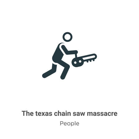 The texas chain saw massacre vector icon on white background. Flat vector the texas chain saw massacre icon symbol sign from modern people collection for mobile concept and web apps design. 向量圖像