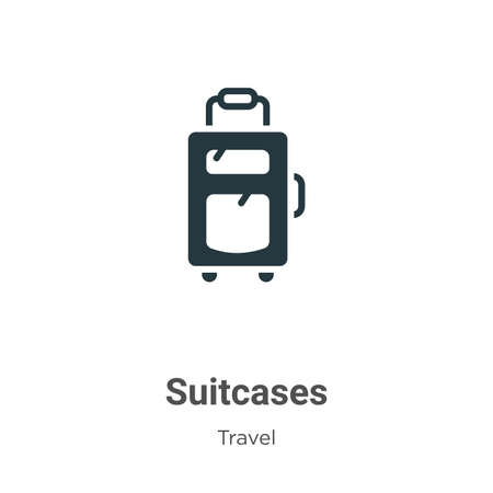 Suitcases vector icon on white background. Flat vector suitcases icon symbol sign from modern travel collection for mobile concept and web apps design.