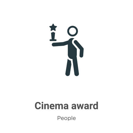 Cinema award vector icon on white background. Flat vector cinema award icon symbol sign from modern people collection for mobile concept and web apps design. 矢量图像