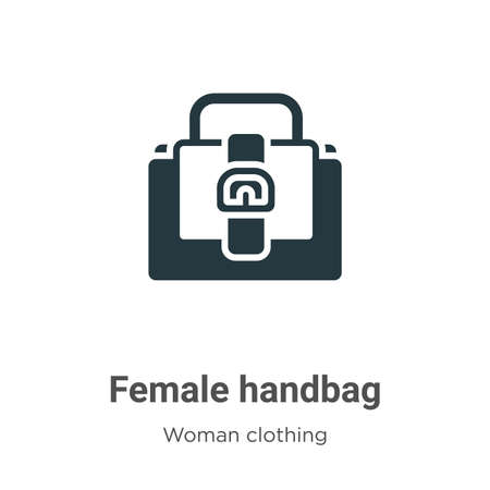 Female handbag vector icon on white background. Flat vector female handbag icon symbol sign from modern woman clothing collection for mobile concept and web apps design.