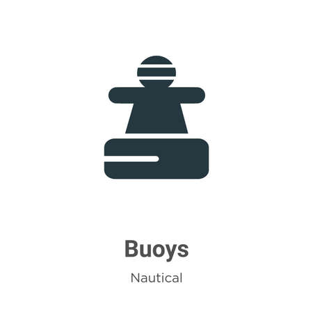 Buoys glyph icon vector on white background. Flat vector buoys icon symbol sign from modern nautical collection for mobile concept and web apps design.