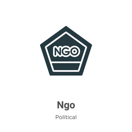 Ngo glyph icon vector on white background. Flat vector ngo icon symbol sign from modern political collection for mobile concept and web apps design.