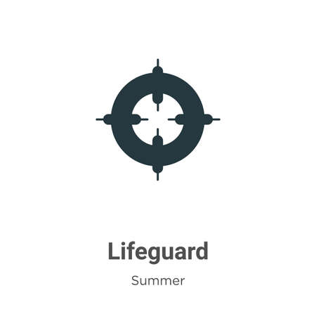 Lifeguard glyph icon vector on white background. Flat vector lifeguard icon symbol sign from modern summer collection for mobile concept and web apps design.