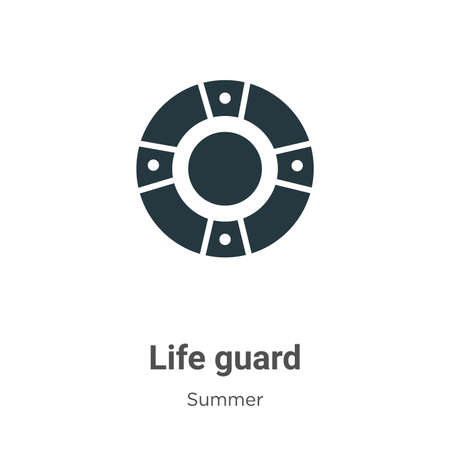 Life guard glyph icon vector on white background. Flat vector life guard icon symbol sign from modern summer collection for mobile concept and web apps design.
