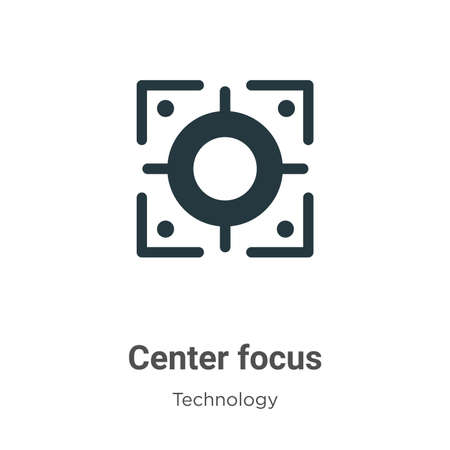 Center focus glyph icon vector on white background. Flat vector center focus icon symbol sign from modern technology collection for mobile concept and web apps design.