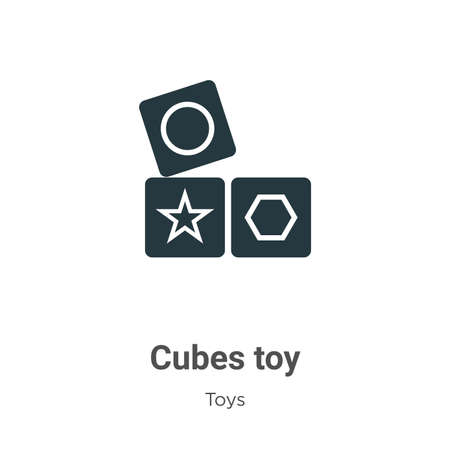 Cubes toy glyph icon vector on white background. Flat vector cubes toy icon symbol sign from modern toys collection for mobile concept and web apps design.