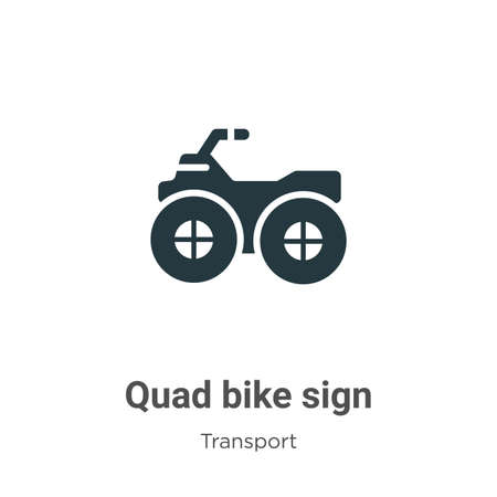 Quad bike sign glyph icon vector on white background. Flat vector quad bike sign icon symbol sign from modern transport collection for mobile concept and web apps design.