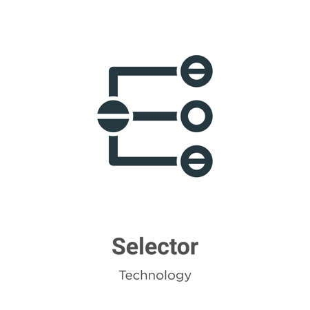 Selector glyph icon vector on white background. Flat vector selector icon symbol sign from modern technology collection for mobile concept and web apps design. Иллюстрация